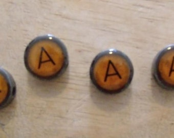 Vintage Typewriter Key Charm Bead Letter A (One Key)