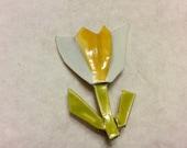 Accessocraft NY enamel on metal tulip flower brooch pin. Free ship.