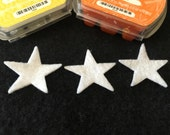 "Felt 1-3/4"" Star Shapes for Wax Dipping-DIY Kits for Independent Consultants- Parties-Decorations-Bible Journal-Planner Embellishments"