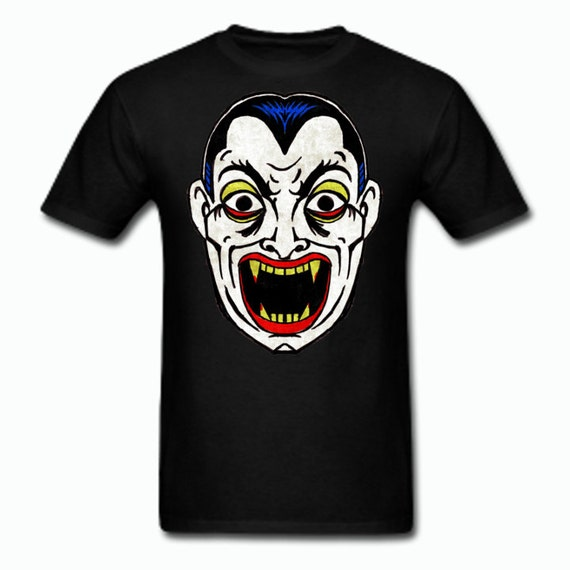 Dracula Vampire Vintage Halloween Mask Tee Shirt