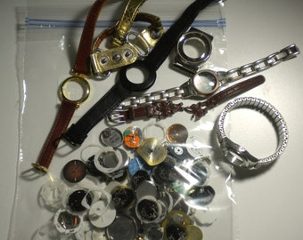 Watch Parts for Jewelry Making Steampunk & Art Watchbands and Various Inside Pieces