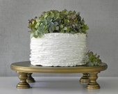 "Gold Cake Stand 22"" Vintage Gold Cake Topper Vintage Rustic Wedding Event Decor E. Isabella Designs. As Featured In Martha Stewart Weddings"