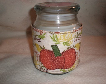 Thanksgiving Candle Cozy Quilted Cotton Candle Wrap Jar Candle Surround
