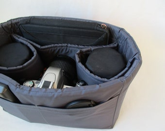 "PreOrder 2 Lens Sleeve Camera Bag Insert  - 6"" Deep"