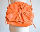 Vintage 1980s CARLOS FALCHI leather butterfly shoulderbag