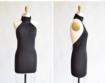 30% OFF STOREWIDE / Vintage 1990s DOLCE and Gabbana backless knit mini dress