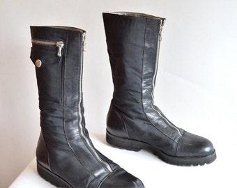 30% off storewide /// Vintage 1990s STEPHANE de RAUCOURT boots / 6.5