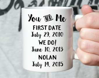 Personalized Anniversary Gifts for Men First Anniversary Gift for Him Anniversary Gift for Her Anniversary Gift for Wife Coffee Mug