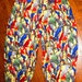 Adult Bird pants, parrot pants, golf knickers, clown pants, custom made ready to ship - one of a kind