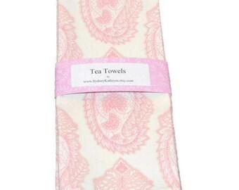 Shabby Cottage Tea Towel, Dish Towel, Decorative Kitchen Towel