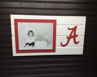 "University of Alabama picture frame holds 8""x10"" photo, decor"