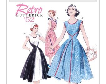 Sz 16/18/20/22 - The Walk Away Dress - Misses' 1952 Vintage Style Wrap Dress - Butterick B4790