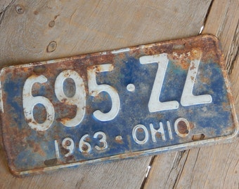 License Plate Ohio Vintage 1963 Metal Sign Home Decor