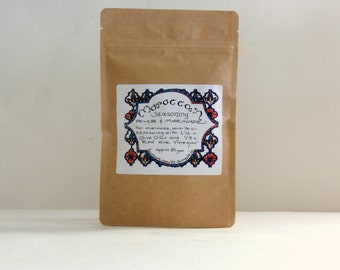 Morroccan Spice Mix, Marinade, Rub, Moroccan Seasoning, Chicken Marinade, Couscous seasoning, Moroccan Spice Refill, Lamb Rub