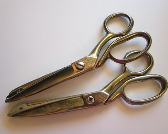vintage scissors and pinking shears - Richards of Sheffield Golden Age scissors and pinking shears