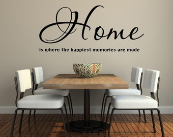 Vinyl wall decal Home is where the happiest memories are made D110