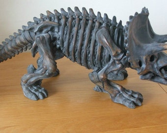Large Resin Replica Of A Triceratops Dinosaur