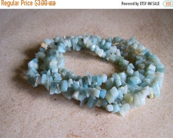 "20% OFF ON SALE 32""  long Amazonite Chips Beads, Gemstone Beads, Jewelry Making"
