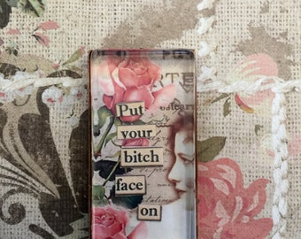 Bitc** Face A Gag Gift Fridge Magnet Mature Gift For Her Sarcastic Magnet Humorous Art Magnet Bitch Magnet Adult Humor Potty Mouth