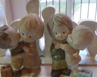 Old Homco  Christmas Figurines Made in China Home Decor