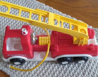 Vintage Fisher Price Fire Truck 1988