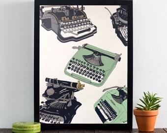Typewriter Poster Print