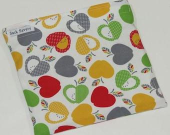 Reusable Sandwich Bag Reusable Snack Bag Apple Eco Friendly Bag