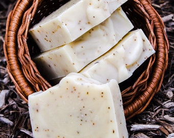 Lavender Citrus Soap with Blueberry Seeds, Cold Process Soap, All Natural Soap, Organic Oils, Blueberry Seeds, Essential Oils