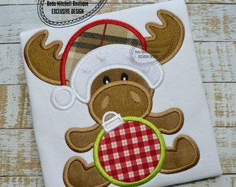 Christmas moose applique