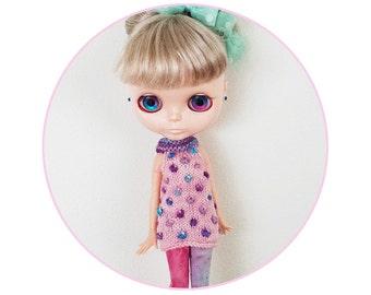 KNIT PATTERN - Blythe Bobble Tunic Dress