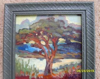 Original Oil Painting, Signed Oil, Tree Painting, Framed Oil Painting, Oregon  Artist