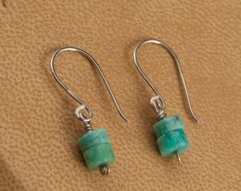 Amazonite, Stone Earrings, Woman's Earrings, Dangle Earrings, Sea green Earrings, Drop Earrings, Gemstone Earrings, Beach Earrings, E174