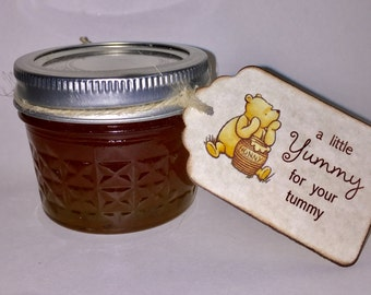 Baby Shower Tags, Tags For Baby Shower Favors And Gifts,  A Little Yummy for Your Tummy Honey Jar Favor Tags For Shower Party - Set of 20