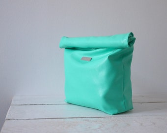 Mint green Lunch Bag | Mint green bridesmaid purse | Mint green lunch purse | Mint green clutch | Mint green party clutch