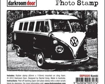 Darkroom Door Cling Rubber Photo Stamp KOMBI Volkswagen Van VW  See Project Ideas