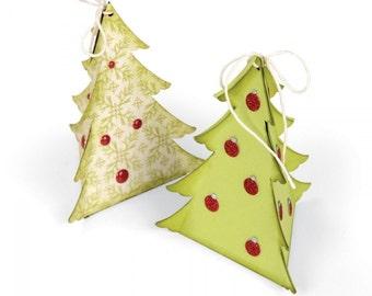 Sizzix Jen Long Originals Die CHRISTMAS TREE BOX