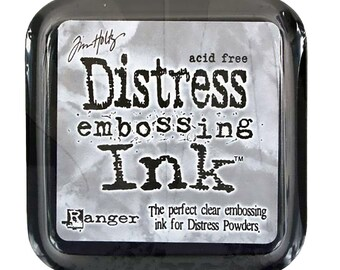 Tim Holtz Distress Ink Pad Full Size EMBOSSING CLEAR  Perfect Clear Medium for Embossing Powders, etc