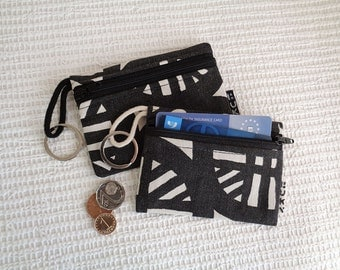 4 in 1 - keychain ring / key pouch / coin purse / cards wallet