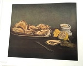 """Washington Museum of Art Print """"Oysters"""" by Manet"""