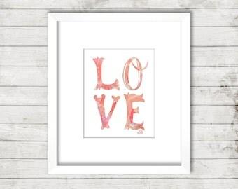 Love Print Download 8 x 10