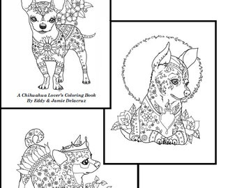 art of chihuahua coloring book volume no 1 downloadable version