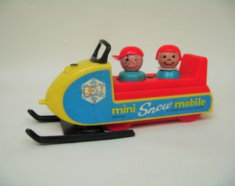 Vintage Fisher Price Snowmobile