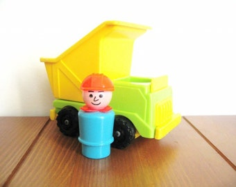 Fisher Price Dump Truck with Construction Man