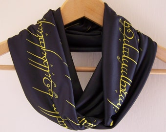 Lord of the Rings Words of the One Ring Infinity Scarf