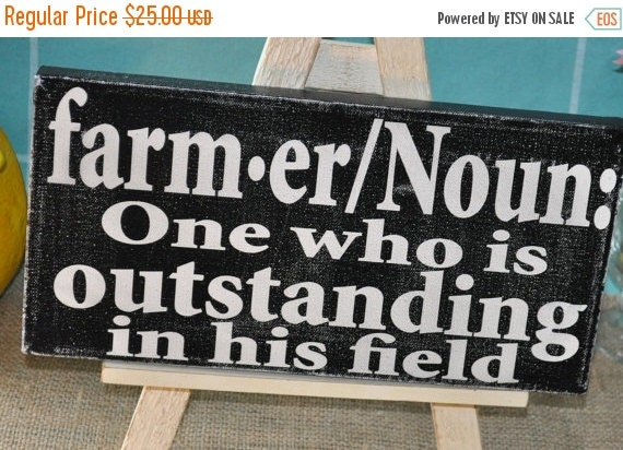 SALE Farmer, A Definition - Rustic Farm Sign Distressed Farm Sign • farm decor • farm sign farmer sign • farm house decor • country sign
