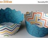 CLOSEOUT SALE Multi Color Chevron Cupcake wrappers SET of 12