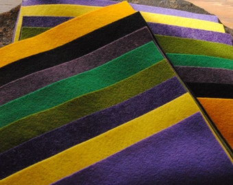 Wool Felt Sheets Mardi Gras Pack of 16
