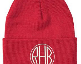 Monogrammed Skull Cap, Personalized Hat, Winter Hat, Monogrammed Toque, Beanie, Monogram