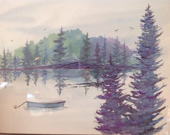 Wolfe's Neck Original Watercolor Freeport, Maine Painting state Park Home Decor Art Kellie Chasse Wall Art 11x14