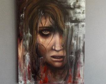 Original Untitled Portrait oil painting